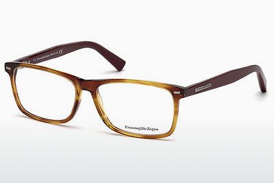 نظارة Ermenegildo Zegna EZ5056 069 - خمري, Bordeaux, Shiny