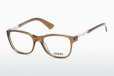 نظارة Guess GU2562 045 - بني, Bright, Shiny