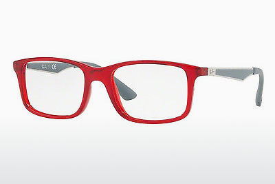 نظارة Ray-Ban Junior RY1570 3723 - شفافة, أحمر