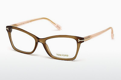 نظارة Tom Ford FT5357 048 - بني, Dark, Shiny