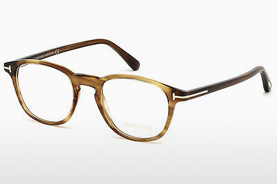نظارة Tom Ford FT5389 048 - بني, Dark, Shiny