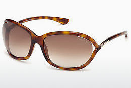 نظارة شمسية Tom Ford Jennifer (FT0008 52F) - بني, Dark, Havana
