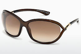 نظارة شمسية Tom Ford Jennifer (FT0008 692) - بني, Dark, Shiny