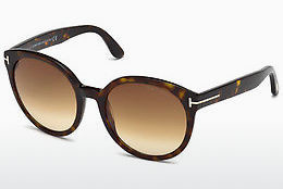 نظارة شمسية Tom Ford Philippa (FT0503 52F) - بني, Dark, Havana