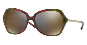 Burberry BE4193 36664T DARK GREY MIRROR GOLDHAVANA GREEN/BORDEAUX/GREEN