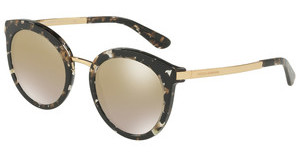 Dolce & Gabbana DG4268 911/6E GRAD LIGHT BROWN MIRROR GOLDCUBE BLACK/GOLD