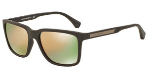 Emporio Armani EA4047 53054Z GREY MIRROR ROSE GOLDGREY/BROWN RUBBER