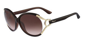 Salvatore Ferragamo SF600SR 210 BROWN