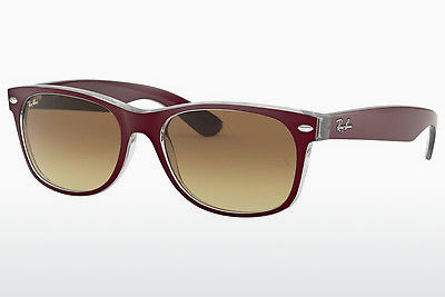 نظارة شمسية Ray-Ban NEW WAYFARER (RB2132 605485) - أحمر, شفافة