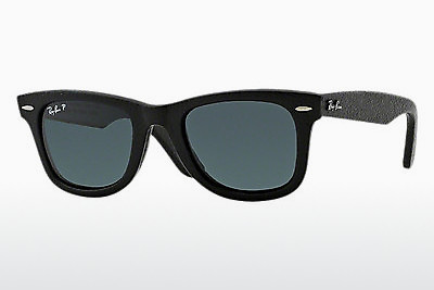 نظارة شمسية Ray-Ban WAYFARER LEATHER (RB2140QM 1152N5) - أسود