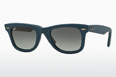 نظارة شمسية Ray-Ban WAYFARER LEATHER (RB2140QM 116871) - أزرق