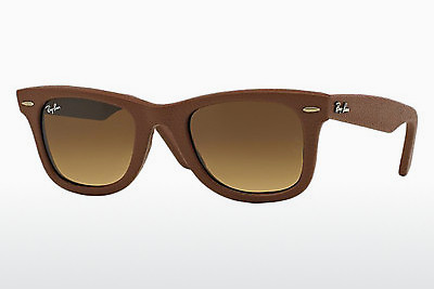 نظارة شمسية Ray-Ban WAYFARER LEATHER (RB2140QM 116985) - بني
