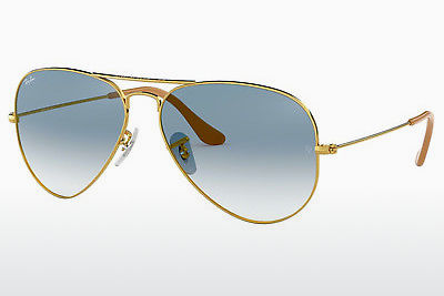 نظارة شمسية Ray-Ban AVIATOR LARGE METAL (RB3025 001/3F) - ذهبي