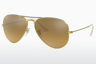 نظارة شمسية Ray-Ban AVIATOR LARGE METAL (RB3025 001/3K) - ذهبي