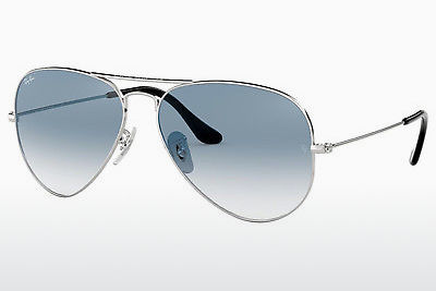 نظارة شمسية Ray-Ban AVIATOR LARGE METAL (RB3025 003/3F) - فضي