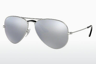 نظارة شمسية Ray-Ban AVIATOR LARGE METAL (RB3025 019/W3) - فضي