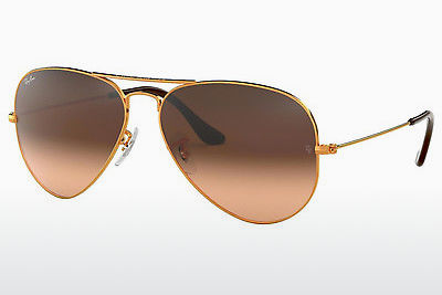 نظارة شمسية Ray-Ban AVIATOR LARGE METAL (RB3025 9001A5) - بني
