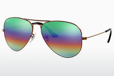 نظارة شمسية Ray-Ban AVIATOR LARGE METAL (RB3025 9018C3) - بني