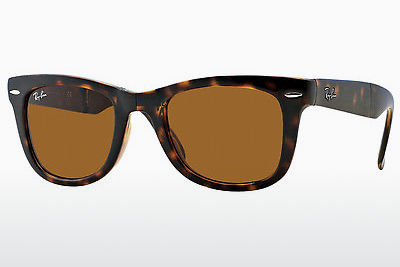 نظارة شمسية Ray-Ban FOLDING WAYFARER (RB4105 710) - بني, هافانا