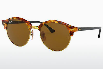 نظارة شمسية Ray-Ban Clubround (RB4246 1160) - بني, هافانا