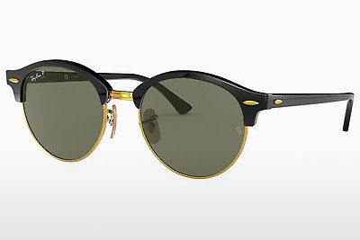 نظارة شمسية Ray-Ban CLUBROUND (RB4246 901/58) - أسود