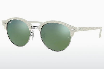 نظارة شمسية Ray-Ban Clubround (RB4246 988/2X) - أبيض