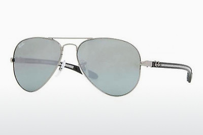 نظارة شمسية Ray-Ban AVIATOR TM CARBON FIBRE (RB8307 004/40) - فضي
