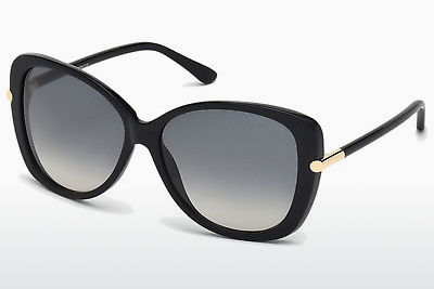 نظارة شمسية Tom Ford Linda (FT0324 01B) - أسود, Shiny