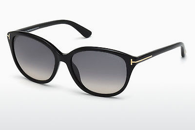 نظارة شمسية Tom Ford Karmen (FT0329 01B) - أسود, Shiny