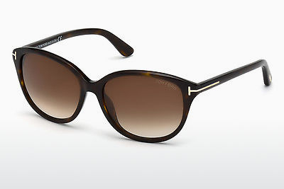 نظارة شمسية Tom Ford Karmen (FT0329 52F) - بني, هافانا