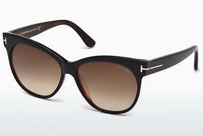 نظارة شمسية Tom Ford Saskia (FT0330 03B) - أسود, Transparent