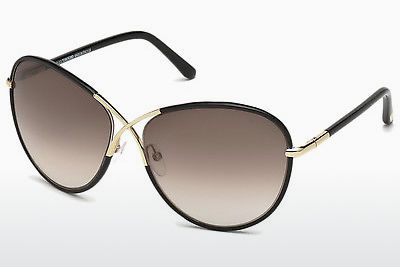 نظارة شمسية Tom Ford Rosie (FT0344 01B) - أسود, Shiny