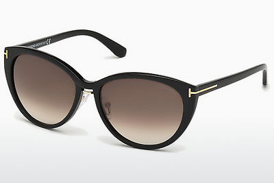نظارة شمسية Tom Ford Gina (FT0345 01B) - أسود, Shiny