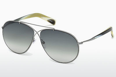نظارة شمسية Tom Ford Eva (FT0374 15B) - رمادي, Shiny, Matt