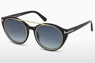 نظارة شمسية Tom Ford Joan (FT0383 01W) - أسود, Shiny