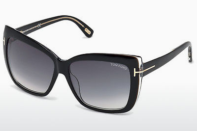 نظارة شمسية Tom Ford Irina (FT0390 01B) - أسود, Shiny