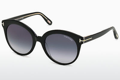 نظارة شمسية Tom Ford Monica (FT0429 03W) - أسود, Transparent