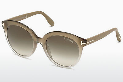 نظارة شمسية Tom Ford Monica (FT0429 59B) - عاجي, Beige, Brown