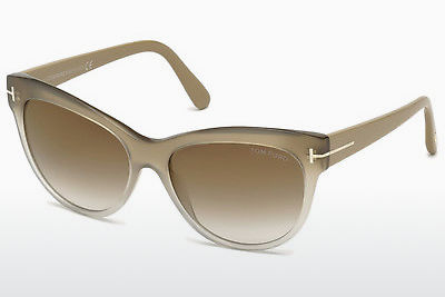 نظارة شمسية Tom Ford Lily (FT0430 59G) - عاجي, Beige, Brown