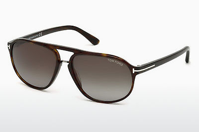 نظارة شمسية Tom Ford Jacob (FT0447 52B) - بني, Dark, Havana