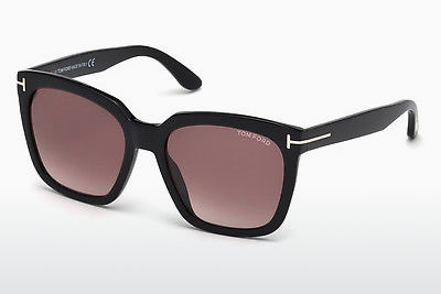 نظارة شمسية Tom Ford Amarra (FT0502 01T) - أسود, Shiny