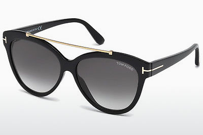 نظارة شمسية Tom Ford Livia (FT0518 01B) - أسود, Shiny