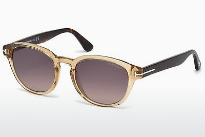 نظارة شمسية Tom Ford Von Bulow (FT0521 39B) - أصفر, Shiny