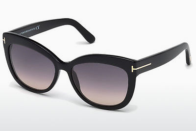 نظارة شمسية Tom Ford Alistair (FT0524 01B) - أسود, Shiny