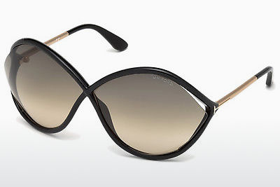نظارة شمسية Tom Ford Liora (FT0528 01B) - أسود, Shiny
