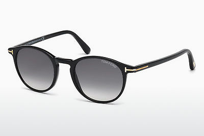 نظارة شمسية Tom Ford Andrea (FT0539 01B) - أسود, Shiny