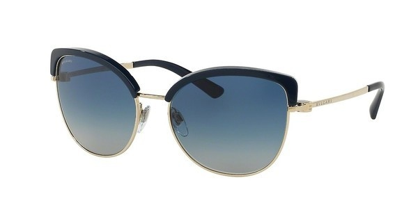 Bvlgari BV6082 278/4L LIGHT GREY GRADIENT BLUEPALE GOLD/DARK BLUE