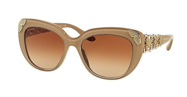 Bvlgari BV8162B 538213 BROWN GRADIENTTOP CRYSTAL ON TURTLEDOVE