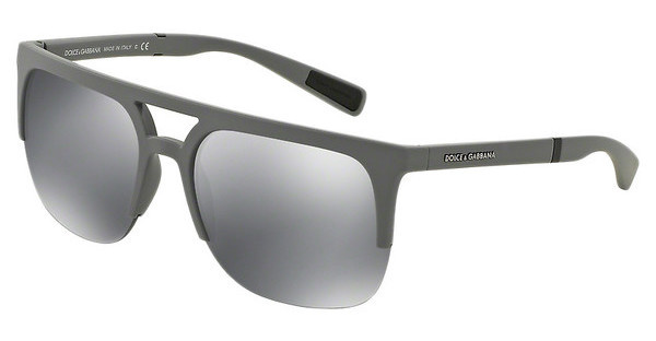 Dolce & Gabbana DG6098 26516G GREY MIRROR BLACKGREY RUBBER