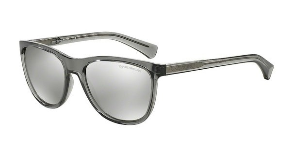 Emporio Armani EA4053 53726G LIGHT GREY MIRROR SILVERTRANSPARENT GREY